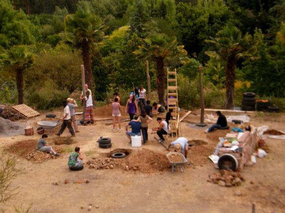 1° Taller y encuentro de Bioconstrucción en Paraíso Escalante