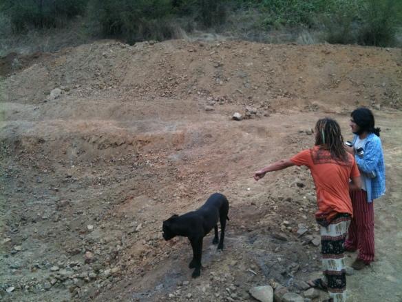 Excavación para la Piscina NAtural